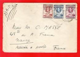 GOLD COAST Ghana To FRANCE Enveloppe Affranchie KGVI 10d Par Avion Accra 12 Apr.1938 Via Khartoum - Gold Coast (...-1957)