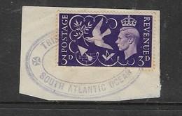 TRISTAN DA CUNHA SOUTH ATLANTIC OCEAN, 2 FE 48 Cachet On GB 3d On Fragment - Tristan Da Cunha