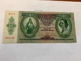 Hungary 10 Pengo Banknote 1936 - Ungarn