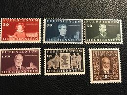 FL 1940 Zumstein-Nr. 151 - 156 ** Postfrisch - Unused Stamps