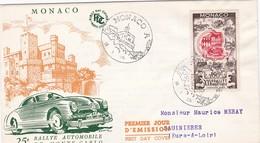 FDC PREMIER JOUR  Monaco 1955 420 25eme Rallye De Monte Carlo - FDC