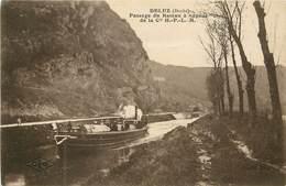 25 Doubs :  Deluz Passage Du Bateau à Vapeur       Réf 7015 - France