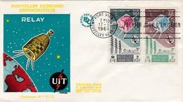 FDC PREMIER JOUR  Nouvelles New Hébrides 1965 211 212 UIT - FDC