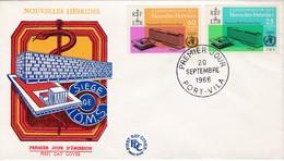 FDC PREMIER JOUR  Nouvelles New Hébrides 1966 245 246 OMS - FDC