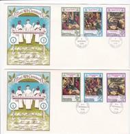 FDC PREMIER JOUR  Nouvelles New Hébrides 2 FDC 1976 Noël Christmas - FDC