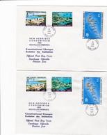 FDC PREMIER JOUR  Nouvelles New Hébrides 2 FDC 1976 Evolution Des Institutions - FDC