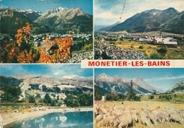 Carte Postale Des Années 70 Des Hautes-Alpes - Monetier Les Bains - Vues Multiples - Frankreich