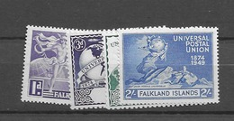 1949 MNH Falkland Islands, Postfris** - Islas Malvinas