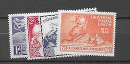1949 MNH Falkland Islands Dependencies, Postfris** - Falkland Islands