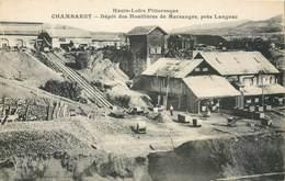 CPA 43 Haute Loire Chambaret Dépôt Des Houillères De Marsanges Près Langeac Mine - Andere Gemeenten