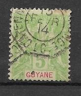 Guyane 1892   N° 33  Oblitéré Charnière - Frans-Guyana (1886-1949)