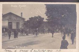 GIRONDE – Bordeaux-Bastide – Carte Photo Ave.Thiers  Course Paris Madrid  1903 - Bordeaux