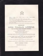 GAND Sucrerie Moerbeke-Waes Léon Charles LEIRENS Veuf LEVISON  1852-1931 - Décès