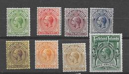 1921 MH Falkland Islands, Wmk Script CA - Falklandeilanden