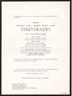 LOKEREN Burgemeester Prosper THUYSBAERT époux LEVIE 1889-1965 Notaire Professeur Louvain Académie Royale 2 Volets Ok - Décès