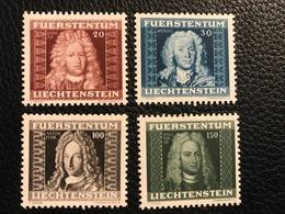 FL 1941 Zumstein-Nr. 162 - 165 ** Postfrisch - Unused Stamps