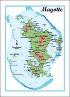 Mayotte Map New Postcard Landkarte AK - Mayotte