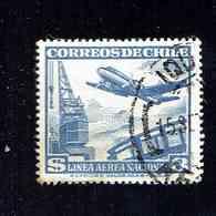 CHILI.(Y&T)   P.A. 1960-62 - N°193   *Types De 1950-1960*   3m.  Obl. - Chili