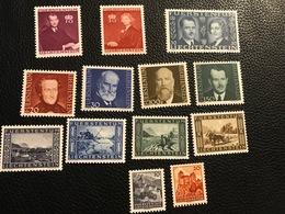 FL 1943 Zumstein-Nr. 179-186 ** Postfrisch Nr. 175-178 * Gebraucht Nr. 187 Ohne Gummi - Unused Stamps