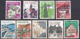 HELVETIA - SUISSE - SVIZZERA - 1973 - Lotto Di 9 Valori Usati: Yvert 934/942. - Usati