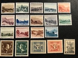 FL 1944/47 Zumstein-Nr. 188-206 Wovon 193/200/201/202/203/205 ** Postfrisch Und Alle Anderen * Gebraucht Mit Falz - Unused Stamps