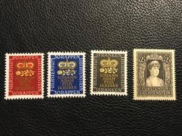 FL 1945 Und 1947 Zumstein-Nr. 207-209, 216 ** Postfrisch - Unused Stamps