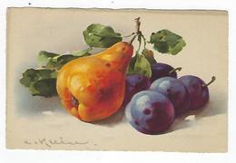 CPA - Fruits - Poires - Prunes - Klein - Fiori, Piante & Alberi