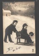 Fantaisie / Fantasy / Fantasie - Enfants Avec Traîneau / Children With Sled / Kinderen Met Slee - 1909 - Scènes & Paysages