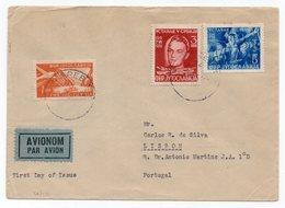 07.07.1951 FDC, YUGOSLAVIA, CROATIA, ZAGREB TO LISBON, PORTUGAL, AIR MAIL - 1945-1992 Socialist Federal Republic Of Yugoslavia