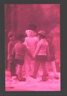 Fantaisie / Fantasy / Fantasie - Enfants Avec Bonhomme De Neige / Children With Snowman / Kinderen Met Sneeuwman - Scènes & Paysages