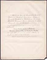 MALINES MECHELEN Caroline De RICHTERICH Veuve Baron De STEENHAULT De WAERBEEK 62 Ans 1852 - Décès
