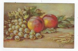 CPA - Fruits - Pêches - Pêche  - Raisin - Resina - Fiori, Piante & Alberi