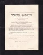 14-18 Médaille De La Reine Elisabeth Louise Van Der STICHELEN épouse GUINOTTE 1870-1946 La Louvière BELLECOURT - Décès