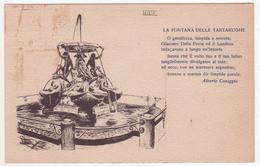 °°° 13693 - ROMA - LA FONTANA DELLE TARTARUGHE - VERSI DI ALBERTO CANIGGIA °°° - Filosofia & Pensatori