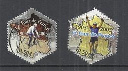 FRANCE 2003 - CENTENARY OF TOUR DE FRANCE - USED OBLITERE GESTEMPELT USADO - CACHET ROND - Radsport