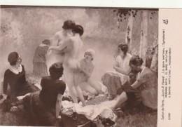 *** PEINTURE *** Jules Hervé Le Bain Matinal Salon De Paris   Neuve Excellent état - Paintings