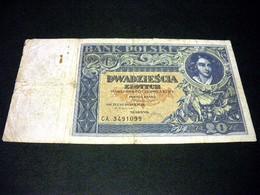 POLOGNE 20 Zlotych  20/06/1931, Pick N° 73 , POLSKA, POLAND - Polen
