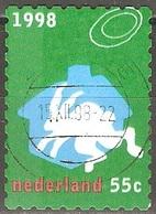 Pays Bas - 1998 - Lièvre Dans Une Maison - YT 1666 Oblitéré - 1980-... (Beatrix)