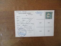 ASSOCIATION DEPARTEMENTALE DES PRISONNIERS DE GUERRE DU NORD CARTE SORIAUX ROGER STALAG I A N°25070 TIMBRE 1945 - Dokumente