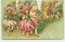 N°13138 - Carte Gaufrée - Couple De Lutins, Nains - Other