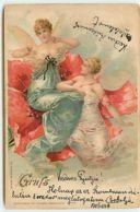 N°13149 - Anges Gardiens Assises Dans Des Coquelicots - Engel