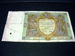 POLOGNE 50 Zlotych  01/09/1929, Pick N° 71 , POLSKA, POLAND - Polen