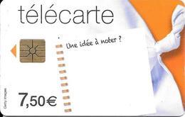 CARTE-PUCE-7.5€-CC-FT12-U NE IDEE A-NOTER?--31/03/2014-UTILISE-TBE - Frankrijk