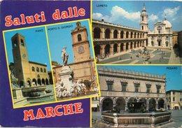 Saluti Dalle MARCHE - Fano, Porto S. Girogio, Loreto, Pesaro - Vedute - Italien