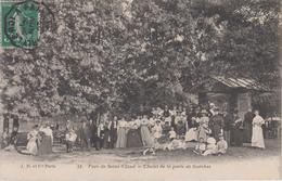 CPA Parc De Saint-Cloud - Chalet De La Porte De Garches (très Belle Animation) - Saint Cloud