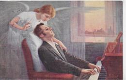 AK 0304  Klimes , Fr. - Chopins Letzte Akkorde / Künstlerkarte Um 1916 - Malerei & Gemälde