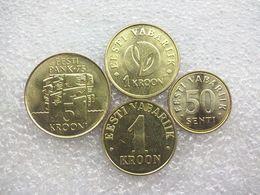 Estonia  4 Coin Set : 50 Senti - 5 Krooni , UNC - Estonia