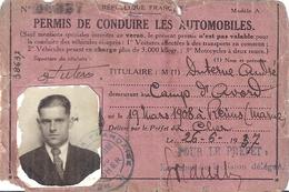PERMIS DE CONDUIRE N°39801-RF-CAMP D'AVORD CHER  1937 - Mappe