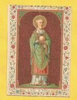 IMAGE PIEUSE HOLY CARD SAINT AUGUSTIN BRUGES BRUGGES  SAINT PIAT PIATUS MARTYR - Religion & Esotérisme