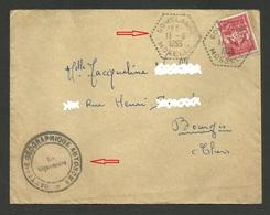 57 - MOSELLE / Agence Postale Rurale GOMELANGE / Cachet Militaire & Timbre F.M. / 1955 - Marcophilie (Lettres)